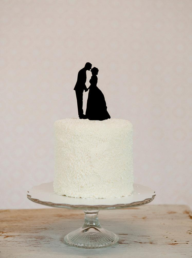 Свадьба - We Put YOUR OWN Custom Silhouettes on a Wedding Cake Topper Personalized with YOUR own Silhouettes