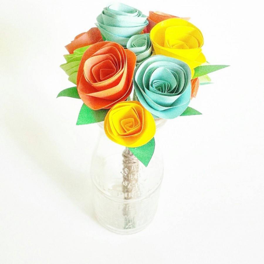 Свадьба - Paper flowers. Small arrangement of 10 flowers.