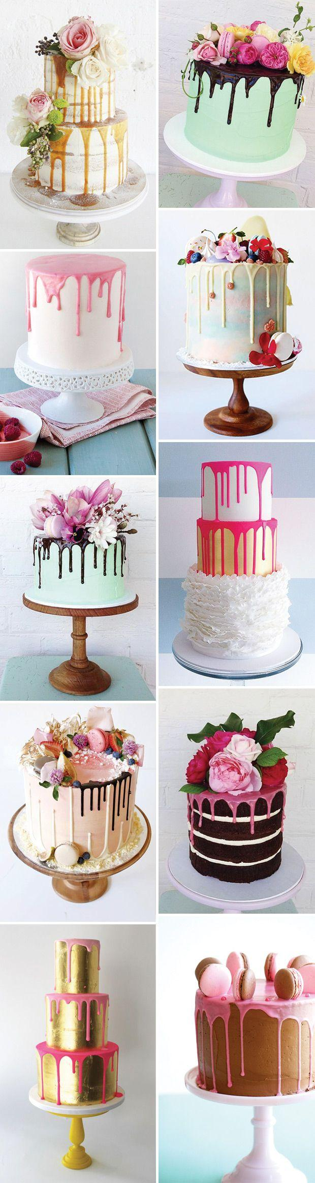 Hochzeit - The Hottest Cake Trend: Delish & Fun Colour Drip Cakes