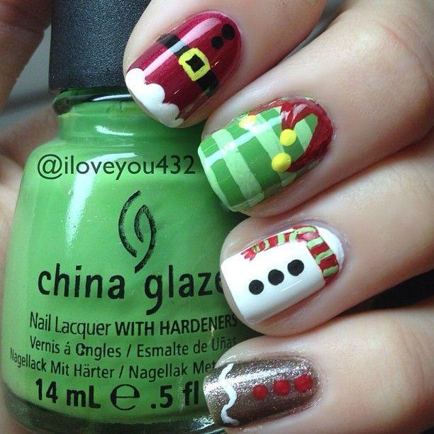 Mariage - 20 Nail Designs For Christmas 2015