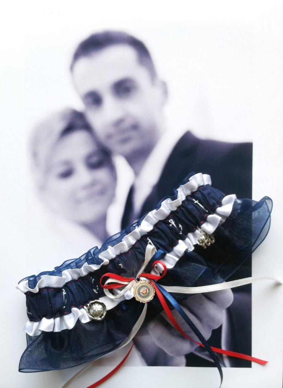 Свадьба - US Navy Wedding Garter  -   Full Speed Ahead