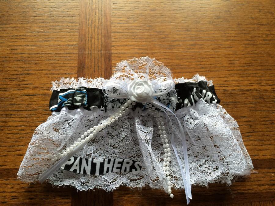 Mariage - Carolina Panthers NFL Football Wedding Bridal Garter Regular/Plus Size