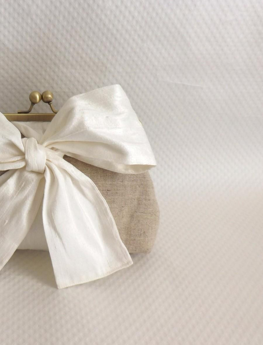 Свадьба - Wedding Purse - Ivory Bridal Clutch - Wedding Clutch - Bridesmaids Clutch- Bridesmaids Gifts - Evening Purse - Mari Clutch