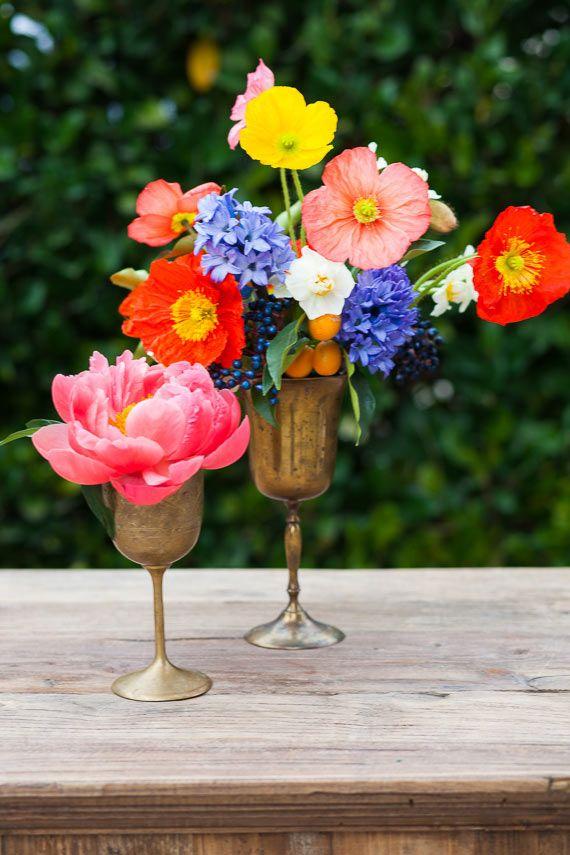 Свадьба - Spring Floral Centerpieces