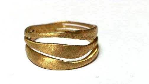 Unique Gold Ring Wedding Ring Wedding Band Statement Gold Band
