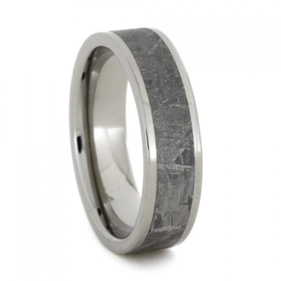 meteorite ring gift for him man wedding ring titanium ring meteorite jewelry meteorite engagement ring - Wedding Ring For Him