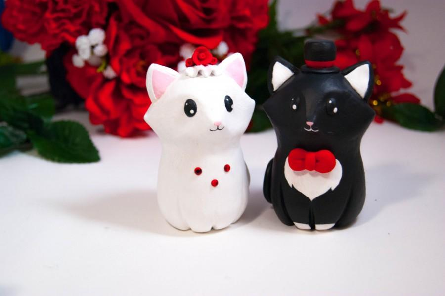 Mariage - Cat Wedding Cake Toppers