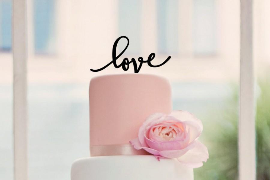 Hochzeit - Love Wedding Cake Topper