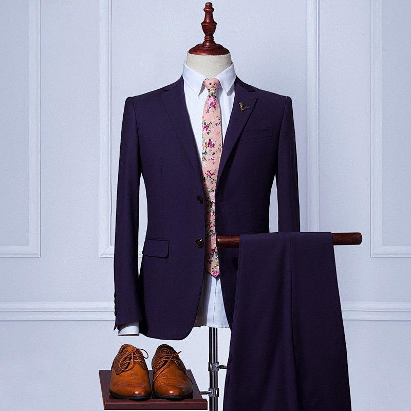 Custom Wedding Suit【Handmade】Men's Suits Wool Blend 2piece