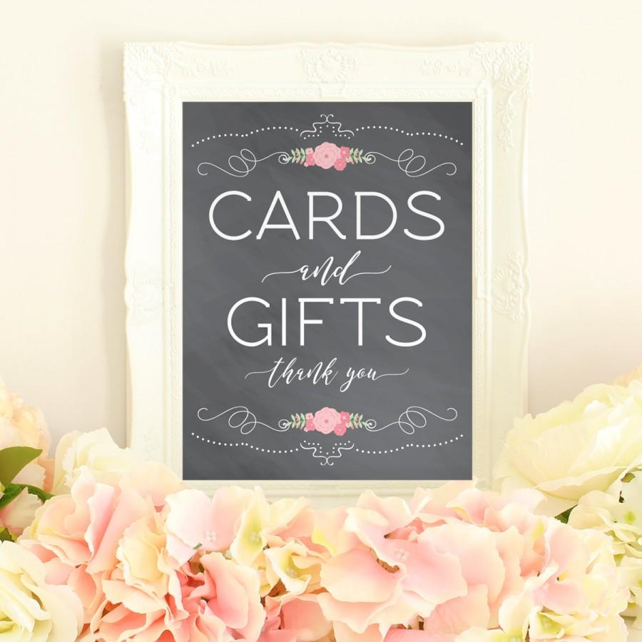 Cards and gifts printable gift table sign card table for Table 6 gift card