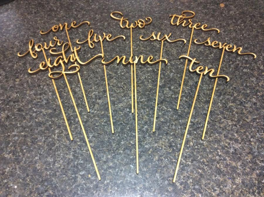 Wedding Table Numbers Table Numbers Gold Table Numbers
