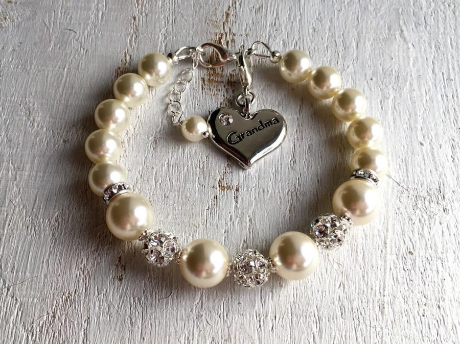 Grandma Gift Bracelet Grandmother Wedding Pearl