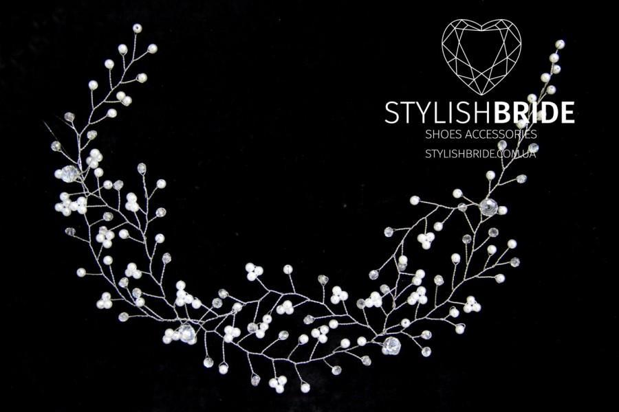 Mariage - Wedding Hair Vine, Hair Vine, Pearl Hair Accessories, Pearl Vine, Bridal Hairpiece, Bridal Hair Vine