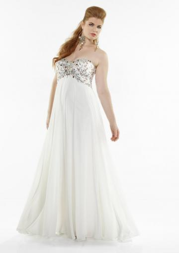 Wedding - Chiffon Sweetheart Zipper Ruched Crystals White Floor Length Sleeveless
