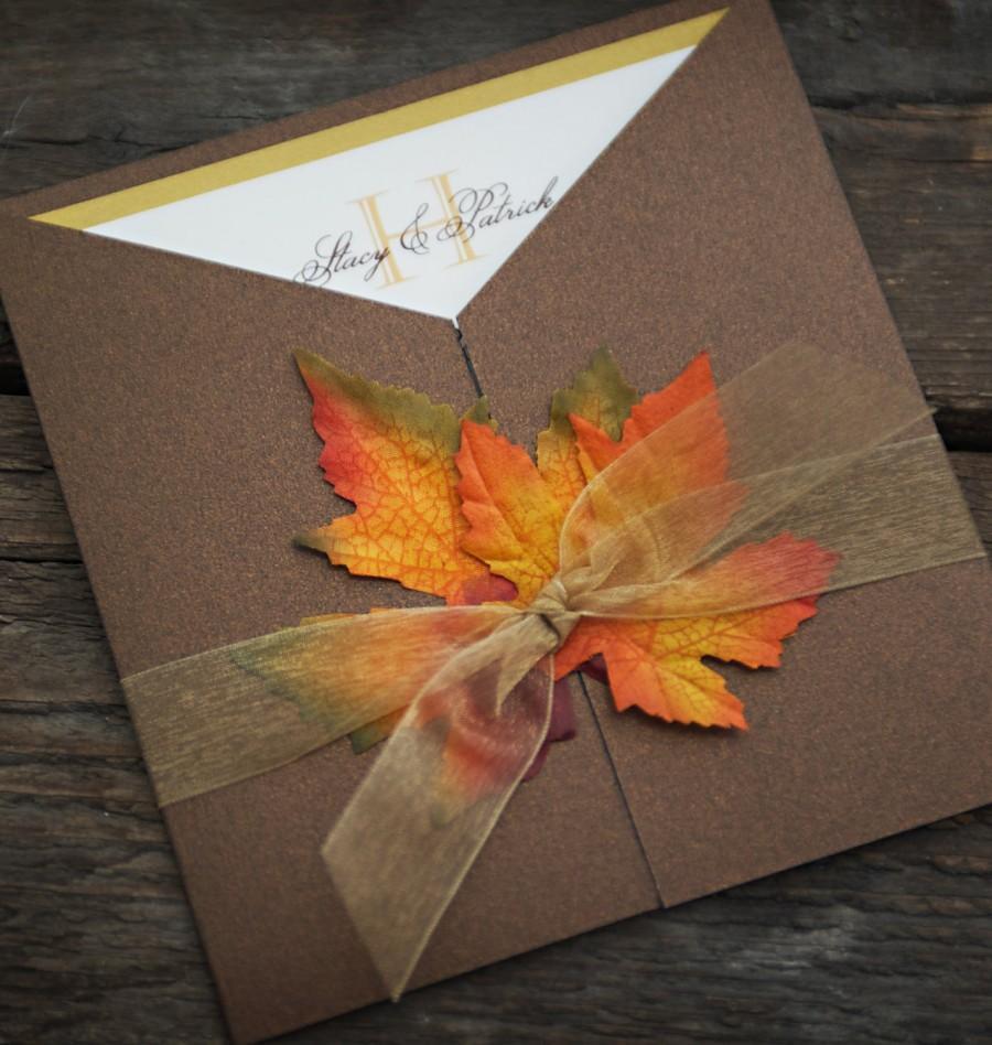 زفاف - Fall Wedding Invitation - Custom Sample