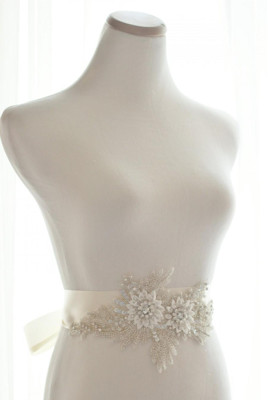 Mariage - Amazing Crystal Sash Statement Piece, rhinestone bridal sash, wedding crystal belt