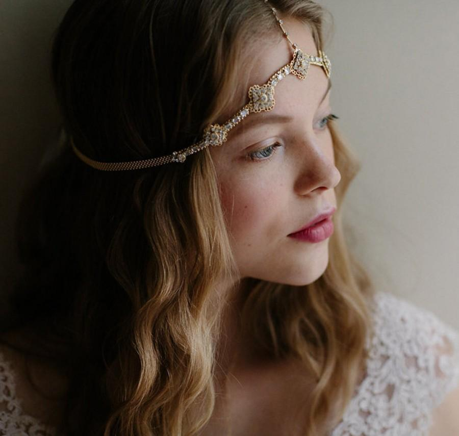 Mariage - Boho wedding hair chain Moroccan bridal headdress - It Girl no. 2095