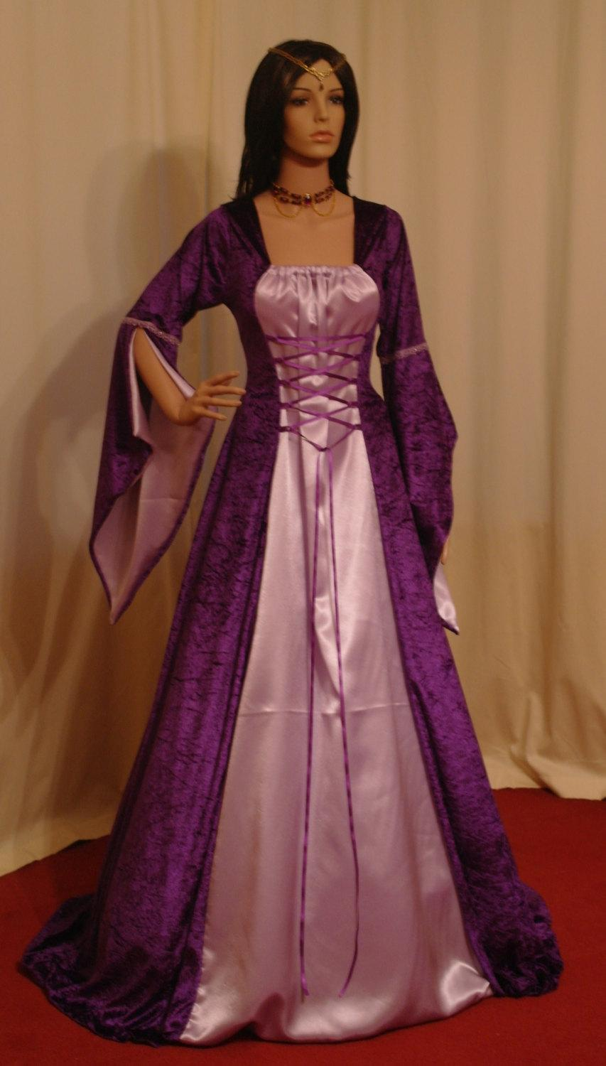 Medieval Dress Bridesmaid Dress Elven Dress Renaissance