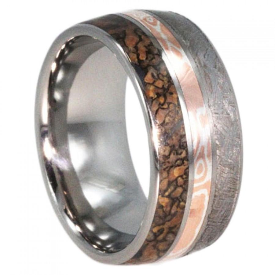 wedding s beveled flat men ring dp dinosaur bone inlay tungsten mesozoic white com with rings amazon