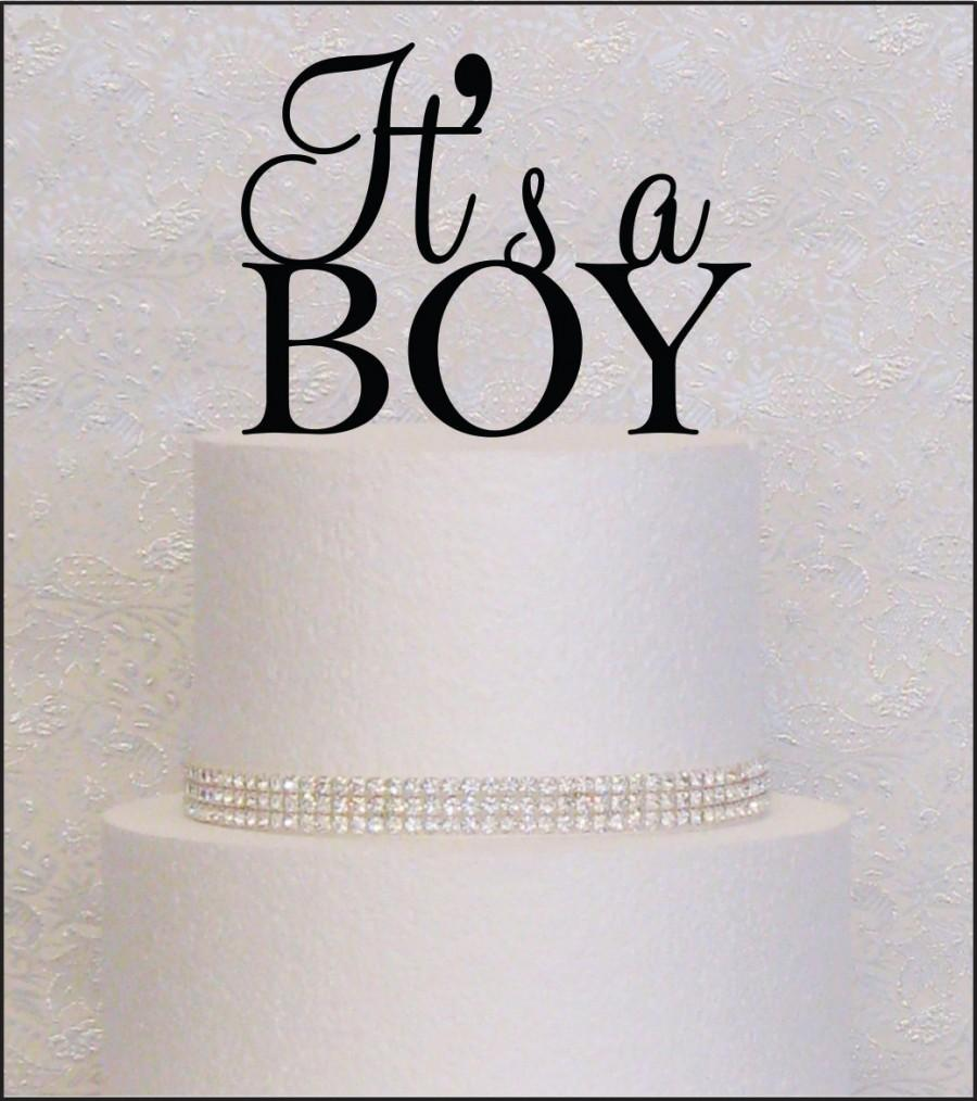 Свадьба - It's A Boy Baby Shower Cake Topper in Black, Gold, or Silver
