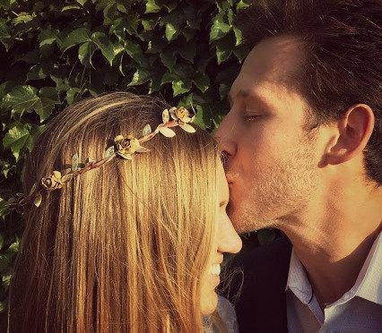 Hochzeit - Rustic gold flower crown - rustic gold head wreath - rustic crown - woodland halo - rustic circlet - bridal headpiece - wedding flower crown