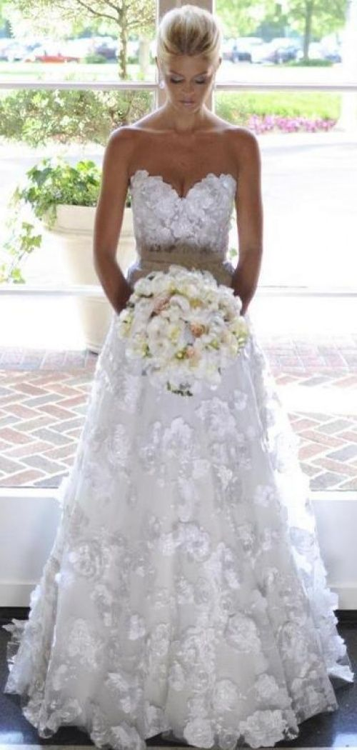 Wedding - Full Appliques Gorgeous Dress