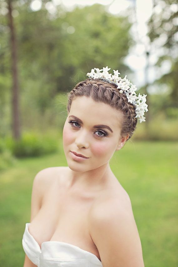 Wedding - Laurie - Hand Made Narcissi Hair Vine