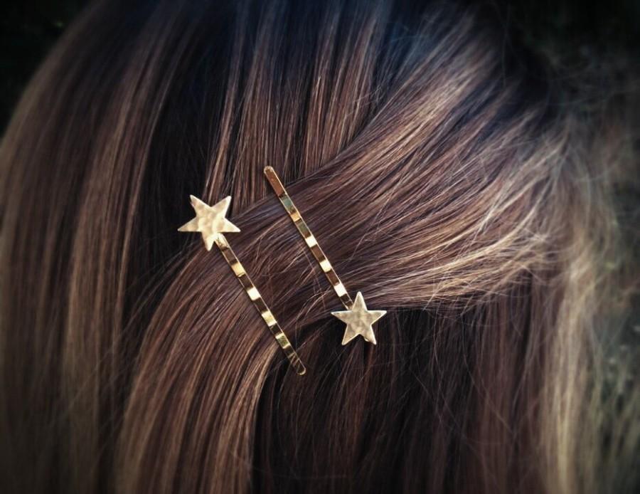 Hochzeit - Gold Star Bobby Pins Star Hair Pins Hair Clips Hair Accessories