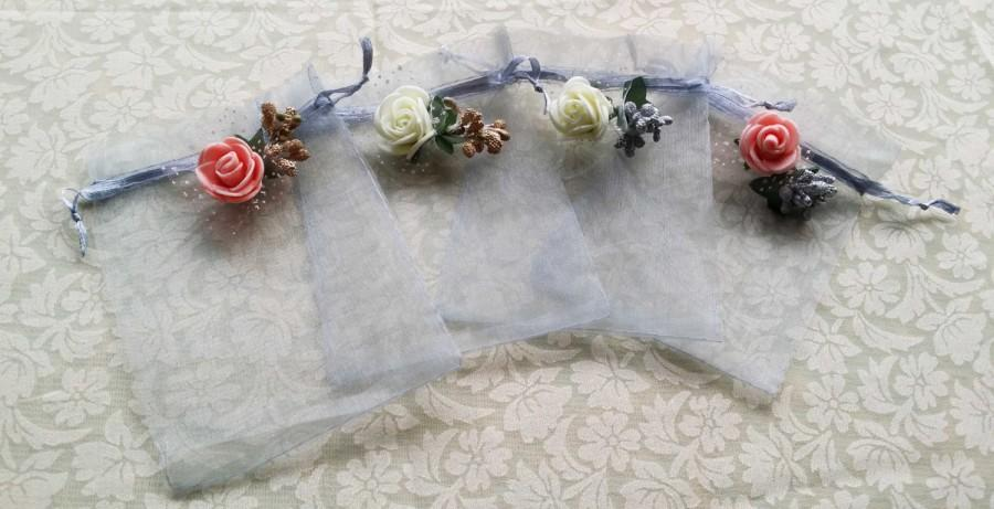 10 Organza BagsWedding Favor Bags Candy Drawstring Bags