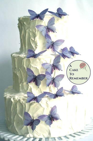 Purple Wedding Cake Decorations 15 Large Lavender Color Edible