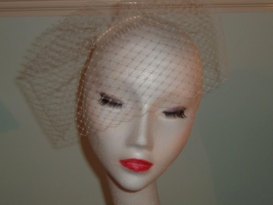 Свадьба - Birdcage Veil - Short Side Style