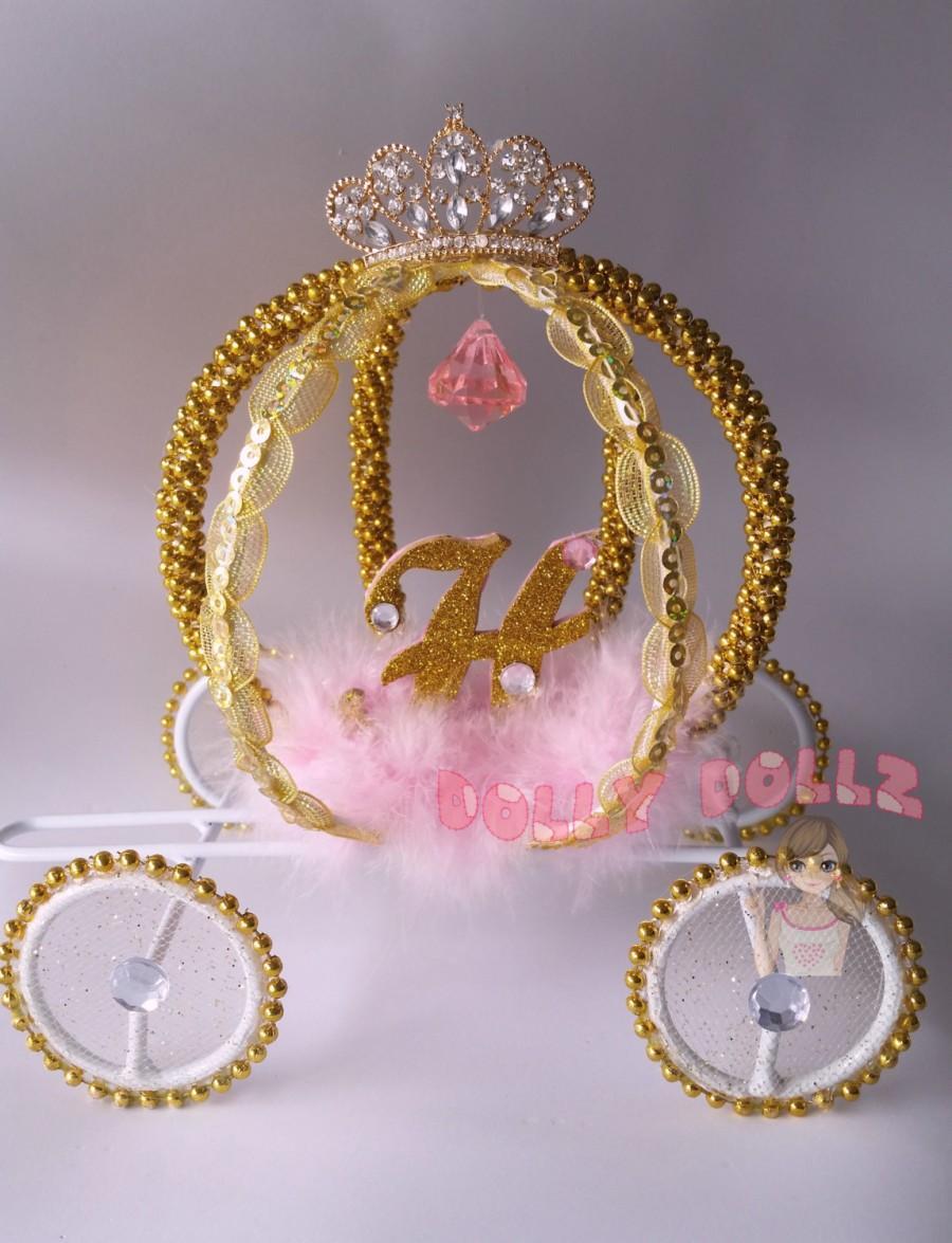 Hochzeit - Cinderella Carriage, Quinceanera, Wedding Cake topper, Room Decor, Cinderella Coach, Cinderella gift, Princess Room Decor, Wedding Decor