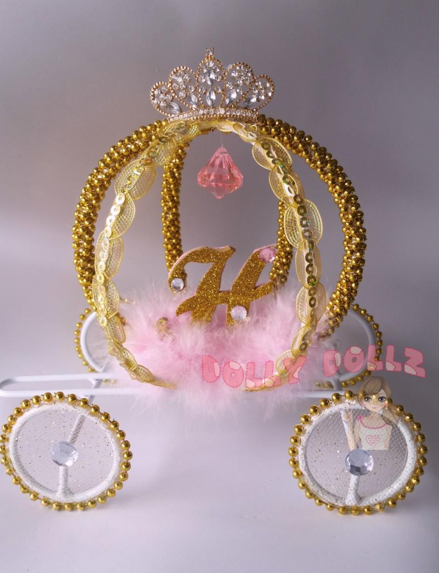 Свадьба - Cinderella Carriage, Quinceanera, Wedding Cake topper, Room Decor, Cinderella Coach, Cinderella gift, Princess Room Decor, Wedding Decor
