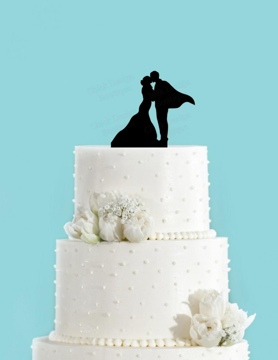 Superhero Wedding Couple In Love Acrylic Wedding Cake Topper ...