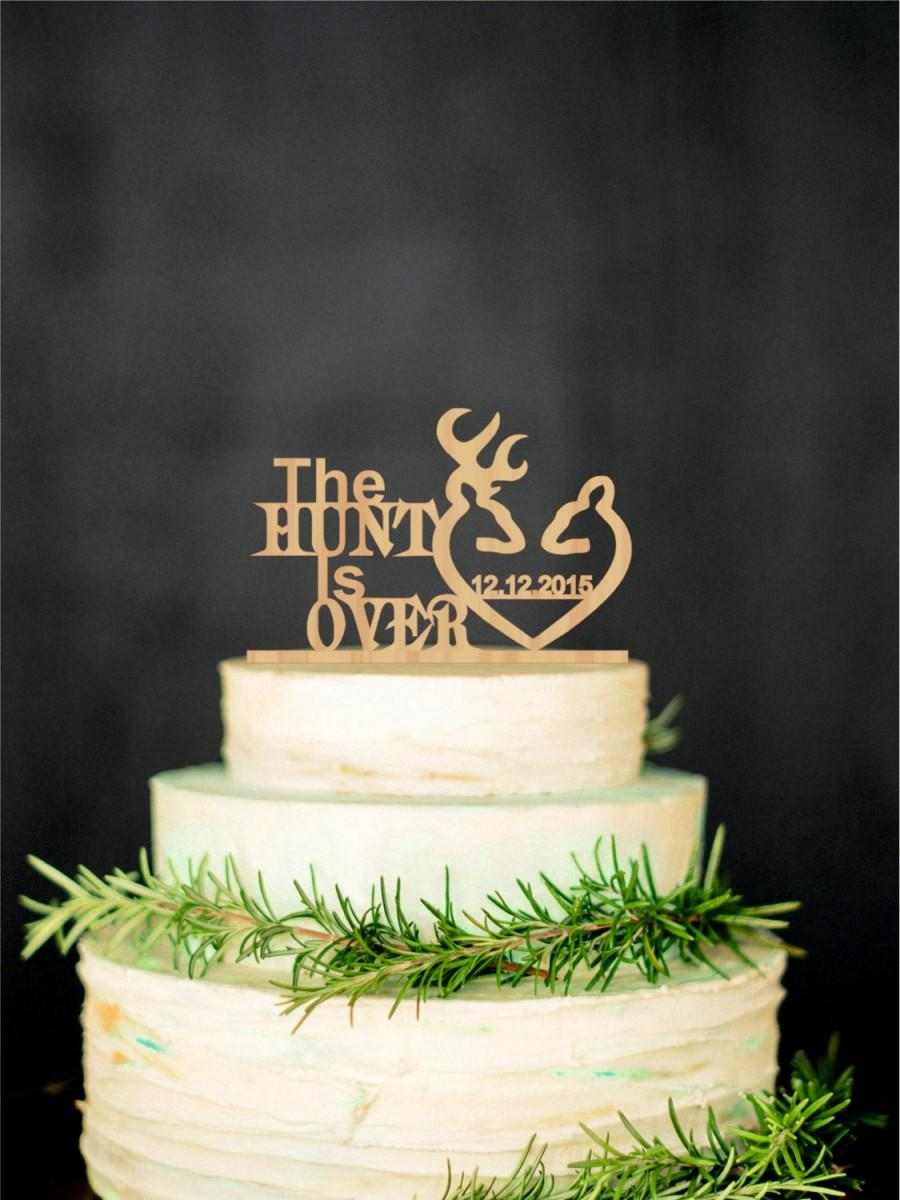 Свадьба - Deer Wedding Cake Topper Rustic Wedding Cake Topper Personalized Cake Topper Gold Cake Topper Silver Cake Topper