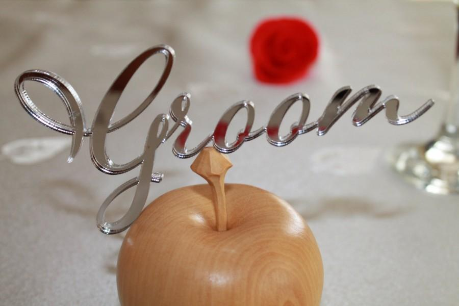 Свадьба - Laser Cut Names, Bride and Groom, Silver or Gold Mirror, Laser Cut Place Settings, Place Cards, Guest Names, Custom Wedding Signs, Tableware