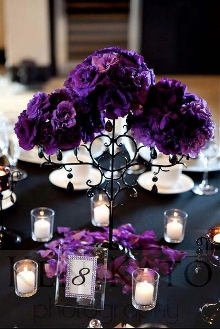 Purple centerpieces pixshark images galleries