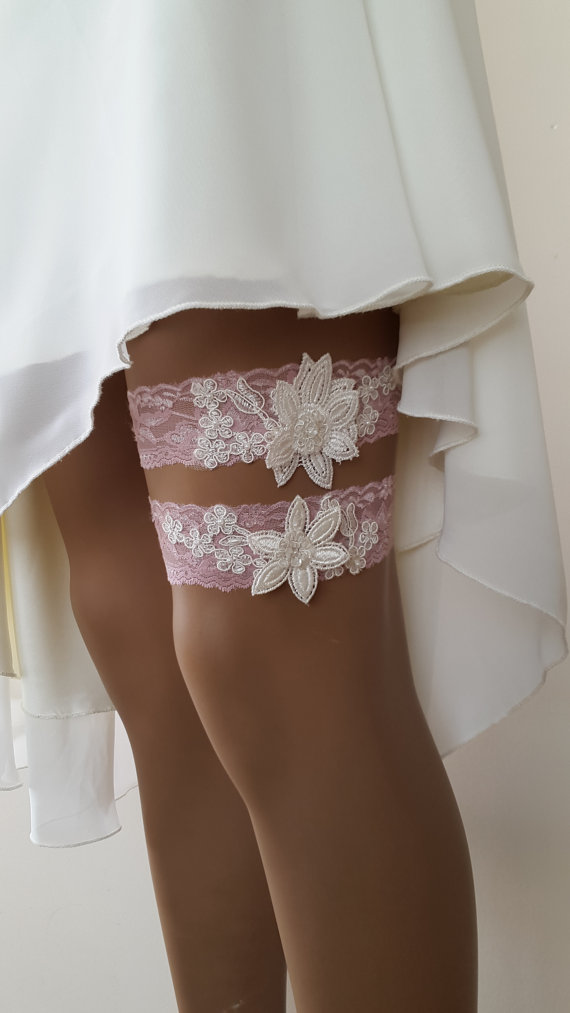 Wedding - garter, toss garters,pink, lace, wedding garters, bridal accessores, garter suspander, free shipping!