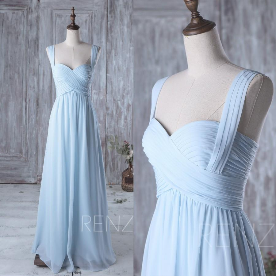 2016 light blue bridesmaid dress long sweetheart wedding dress 2016 light blue bridesmaid dress long sweetheart wedding dress two straps long maxi dress a line chiffon evening dress floor lengthz079 ombrellifo Gallery