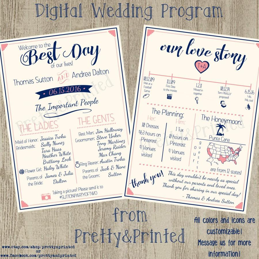 Wedding - Digital Wedding Program