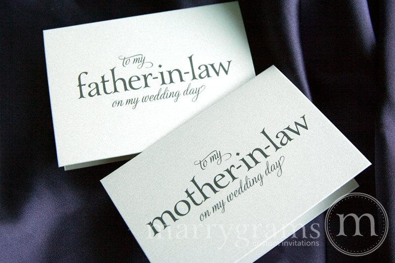 Wedding Gift From Groom To Mother In Law : ... Law - Parents of the Bride or Groom Cards - Parents-In-Law Gift Idea