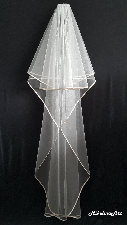Wedding - Ivory Wedding Veil, Two Layers