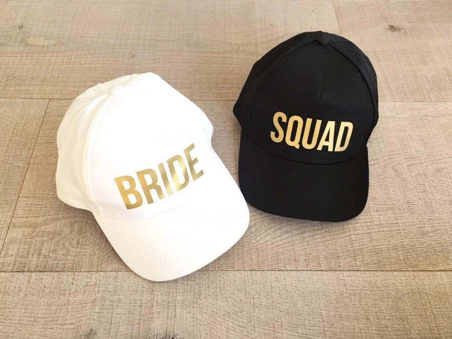 Свадьба - Bachelorette hat, bride hat, squad hat, bachelorette party hat, bridesmaid hat, custom party hat, wedding party hats,