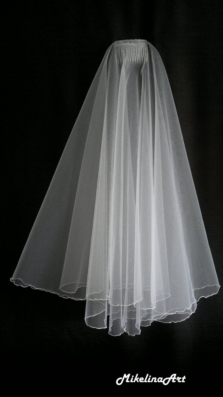 Свадьба - White Wedding Veil, Two Layers