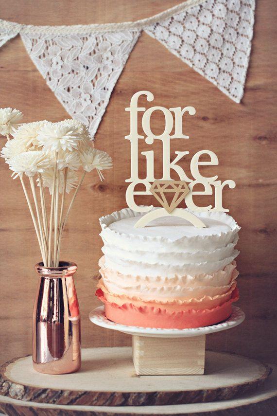 Hochzeit - For Like Ever - Wedding Cake Topper Or Wedding Decor