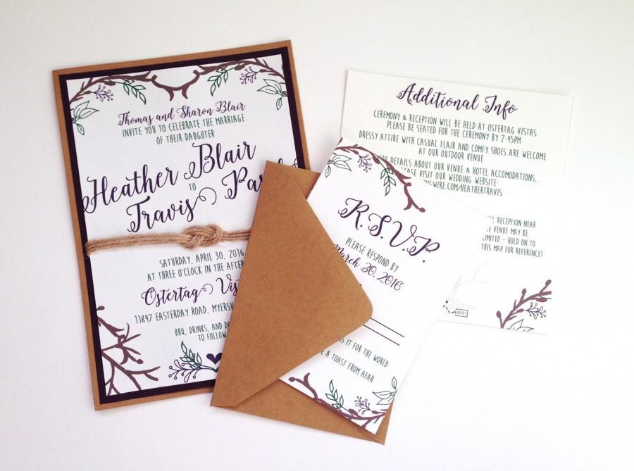 Woodsy Rustic Outdoor Wedding Invitations #2537262 - Weddbook