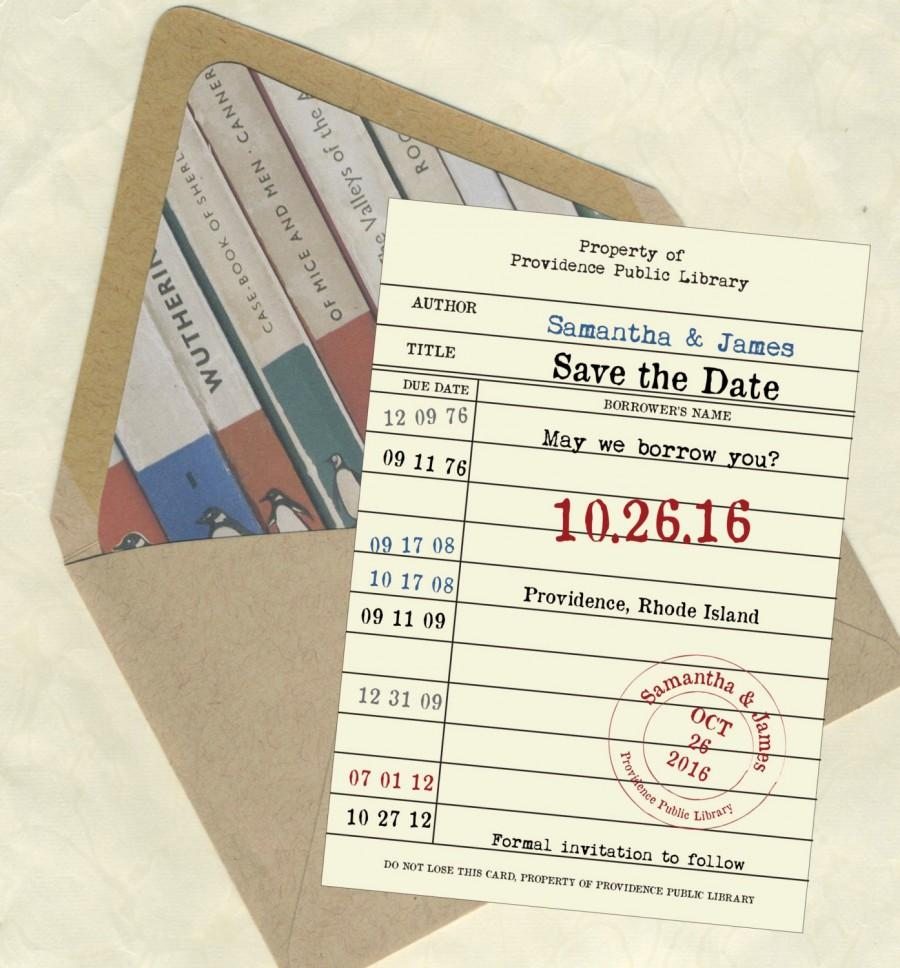 Mariage - Library Card 2 Save the Date