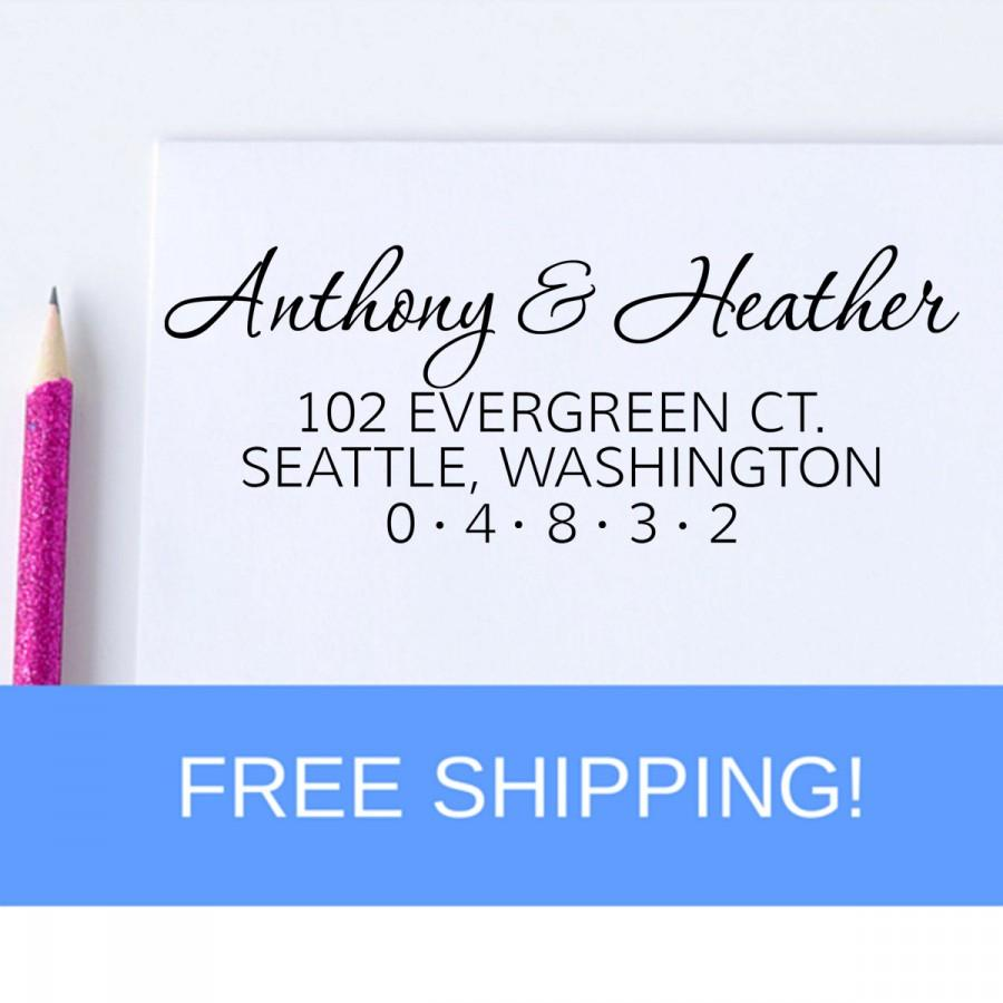 Mariage - Return Address Stamp - Self Inking Address Stamp - Housewarming Gift  (D77)