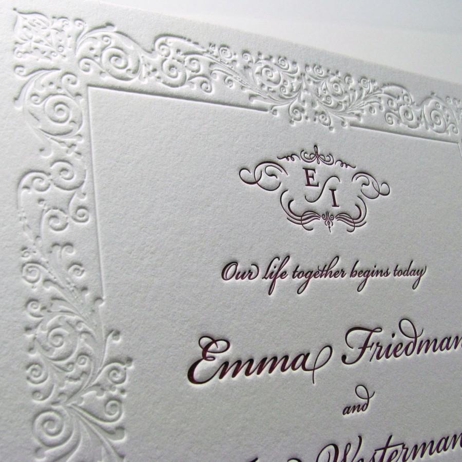 Custom Wedding Invitations Filigree Border 2537295 Weddbook