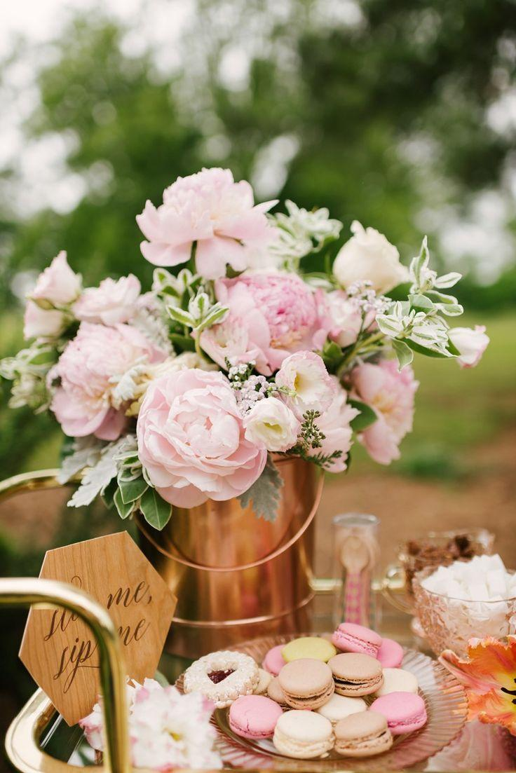 chic coffee loving garden bridal shower ideas